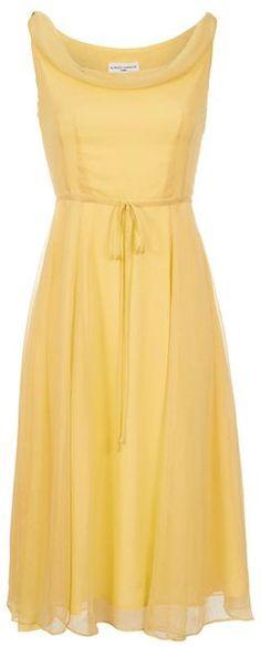 Cowl Neck Chiffon Dress