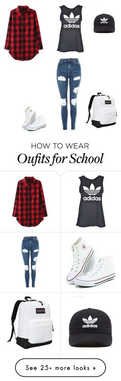 """Tikki"" by ana-vivier on Polyvore featuring Topshop, adidas Originals, JanSport and adidas"
