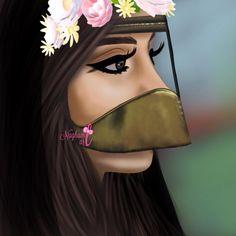 Sarra Art, Lovely Girl Image, Islamic Cartoon, Girly M, Islamic Girl, Cute Girl Face, Beautiful Fantasy Art, Latifa, Arabic Art