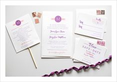 Free Modern Monogram Wedding Invitation Suite from Wedding Chicks