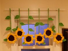 Sunflower valance pattern by Rimma Pinto
