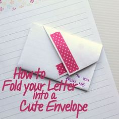 Fold an envelope from a rectangular note that stays closed without glue - just like I did in high school!
