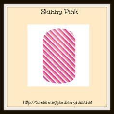 skinny pink, skinny, pink, white, stripes, modern, funky, jamberry nail wraps, jamberry, nails, wraps.