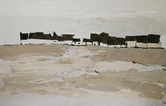 Pale Village II by Sandra Pratt, Selby Fleetwood Gallery  Oil on Linen 24 x 36