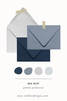 blue wedding Palette Perfection: Navy, Dusty Blue, Light Grey and Light Blue color palette for wedding stationery. Bedroom Colour Palette, Grey Palette, Design Palette, Blue Colour Palette, Color Palette For Wedding, Website Color Palette, Blue Grey Weddings, Wedding Blue, Blue Website