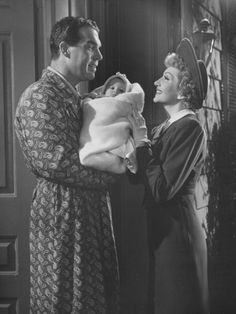 "Scene from Film ""The Egg and I"" with Claudette Colbert and Fred Macmurray"