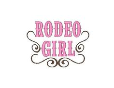 Rodeo Girl Embroidery Design 2 digital files by shabbychicnow, $3.50
