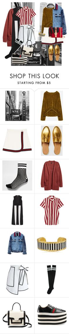 """Untitled #78"" by pasteldemerme ❤ liked on Polyvore featuring Gucci, River Island, Narciso Rodriguez, RED Valentino, Jamie Wei Huang, Évocateur, Chicwish, Aéropostale and Kate Spade"