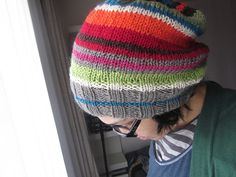 Ravelry: Findings Headsock #Stashbuster Hat pattern pattern by Karen Wrai Karn