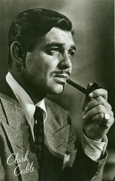"Clark Gable: Actor, ""The King of Hollywood"", & Pipe Smoker - Tobacco Pipe Smoking"