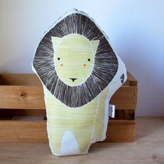 Handmade Lion Pillow by Gingiber