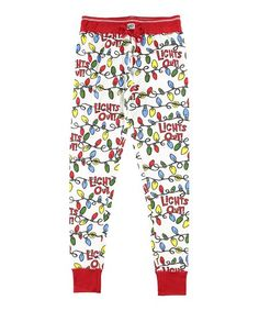 60d54f9294 Lazy One Red   White String Lights Pajama Pants - Women