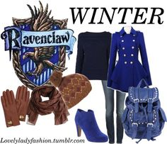 """Ravenclaw Seasons - Winter"" by nearlysamantha on Polyvore"