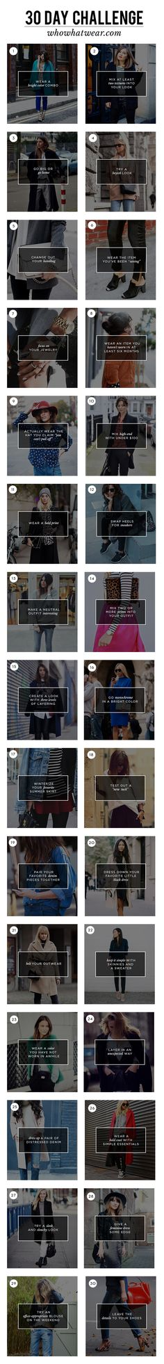 Who What Wear's 30-Day Wardrobe Challenge