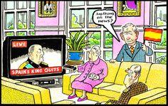 2014-06-03 express Celebrity Caricatures, British Royals, Royalty, Queen, Cartoon, History, Royals, Historia, Show Queen