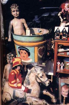 Antique tin toys