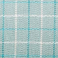 Sidney Herringbone Seaspray Blue Plaid Upholstery Fabric - SW45918 - Fabric By The Yard At Discount Prices