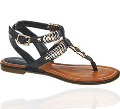 fceab5f6b7c1e7 Deichmann Sandalen Black Sandal with Metal Accessoires