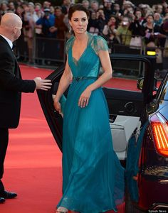 I love everything about this gown on Princess Kate at the Olympic Gala, especially the color