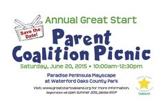 Save the date for our annual picnic - early this year!