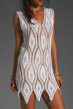 Crochet dress--shortened just |