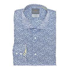 Thomas Dean Co. | Big & Tall Blue Floral Print Button Down Shirt - T49P13-406BT - Big & Tall