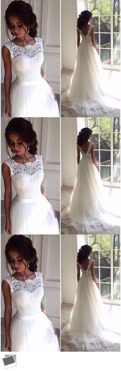 Wedding Dresses: Lace New White Ivory Bridal Gown Wedding Dress Custom Size 6-8-10-12-14-16-18+ -> BUY IT NOW ONLY: $69.99 on eBay!