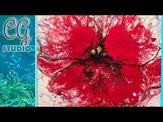 003 Acrylic Pour Fire Flowers Poppy - YouTube
