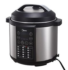 MIDEA MYCS6004W 15in1 6L Stainless Steel Pot Electric Pressure Cooker with Steamer Rack -- You can find out more details at the link of the image.
