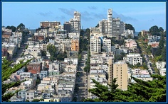 San Francisco view from the Coit tower. Thank you for visiting. have a look at my photos from San Francisco or my most interesting photos - Home of the Golden Gate Bridgd! Best Honeymoon, Honeymoon Destinations, San Francisco Travel, San Francisco Skyline, Lombard Street, Going Home, Landscape Photos, Us Travel, Wonders Of The World