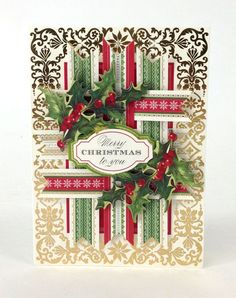 anna griffin cards ideas for christmas | Anna Griffin, Inc. Holiday Trimmings Card Making Kit