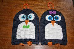 Frk. Fredsgaard: DIY hæklede pingvingrydelapper - langt om længe!