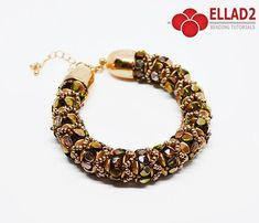 Beadwoven Bracelet with Pinch beads. Beading Tutorial for Zola Bracelet is very detailed, easy to follow, step by step with color photos of each step.