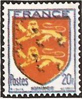 1944 - Stemmi di province francesi - II serie - Normandie - 20 f