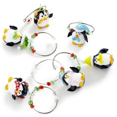 Pier 1 Penguin Wine Charm Set will help guests remember their glass