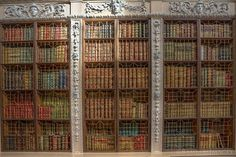 Blenheim Palace Library  This is one of the bookshelves built into the library.