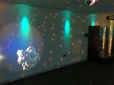 A re-location for the Sensory Room at Nescot College in Surrey... The images show how a blank canvas can be so easily transformed into a wonderful sensory environment. With the introduction of an Opti-Kinetics themed driven Solar Projector and LED Mood Lighting the room is a calming versatile space to relax.