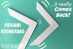 that Comes Back Paper Origami Boomerang. This is such a cool paper toy to make. Quick to learn, hours of play! This is such a cool paper toy to make. Quick to learn, hours of play! Diy Origami, Origami Toys, Origami Tutorial, Origami Paper, Origami With Printer Paper, Origami Ideas, Origami Fashion, Origami Tattoo, Kirigami