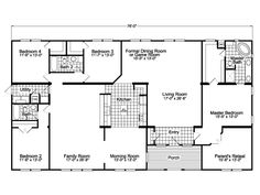 The Gotham Triple Wide Home   2952 Sq Ft Manufactured Home Floor Plans in Flora Vista,$mcStateDesc