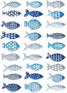 Ideas For Watercolor Art Fish Watercolour Watercolor Fish, Watercolor Pattern, Watercolor Paintings, Fish Paintings, Green Watercolor, Fish Crafts, Fish Patterns, Fabric Patterns, Ideias Diy