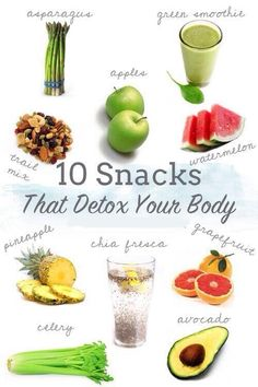 10 snacks that detox your body.. (Pic) ---- with bonus: Healthy foods that keep you full (Link)