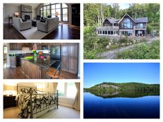 SOLD! SEE VIRTUAL TOUR https://youtu.be/lpHeBaPYHlM  Dazzling lake views through floor-to-ceiling custom windows and custom finishes galore in this 5 bedroom, 3 bath home or cottage with western views and awesome privacy on area`s most popular three lake chain. Customs finishes throughout. Soaring cathedral ceilings, distressed ash hard wood flooring, master with en suite and private lake view deck, custom kitchen, granite counters, huge walk out rec room, double attached garage.