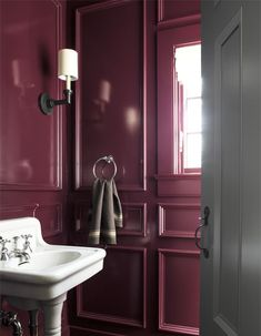 Bring traditional color to modern times with Benjamin Moore's Williamsburg® Paint Color Collection. This color palette includes 144 colors to give each room in your home a colonial feel to complement your contemporary lifestyle. Bathroom Paint Colors, Interior Paint Colors, Gray Interior, Interior Design, Interior Painting, Benjamin Moore, Plum Paint, High Gloss Paint, Paint Color Palettes