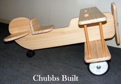 Wooden Ride-on Toy Bi Plane.   Handcrafted (20yrs+ experience).   A present that can then be passed on generation to generation.   Great for ages 2-6yrs.  Excellent Educational Value.  Made from new and recycled materials.  Approx dimensions 750mm long x 620 wide x 460 high.  $150 raw.  Delivery available for small fee, or pick-up from Aldinga Beach welcome.