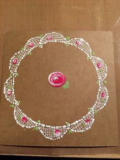 Who doesn't love some dotty roses and delicate lace - a beautiful original design
