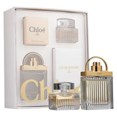 Shop Chloé Coffret Gift Set by Chloé at Sephora. This set contains dabbers of Chloé Eau de Parfum and Love Story Eau de Parfum.