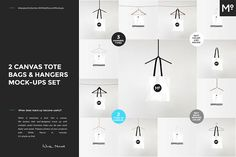 2 Canvas Tote Bags Mock-ups Set by Mocca2Go/mesmeriseme on @creativemarket