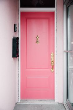 Find the perfect paint color to express your personality and give your front door maximum curb appeal. House Colors, Doors Interior, Pink Front Door, Door Inspiration, Exterior House Colors, Front Door Decor, Front Door, Doors, Perfect Paint Color