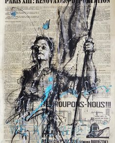 """guy_denning on """"and we are where we are"""" 54 x 37 cm Mai 68, Newspaper Art, Human Anatomy, Paris Drawing, By, Drawings, Books, Movie Posters, Instagram"""