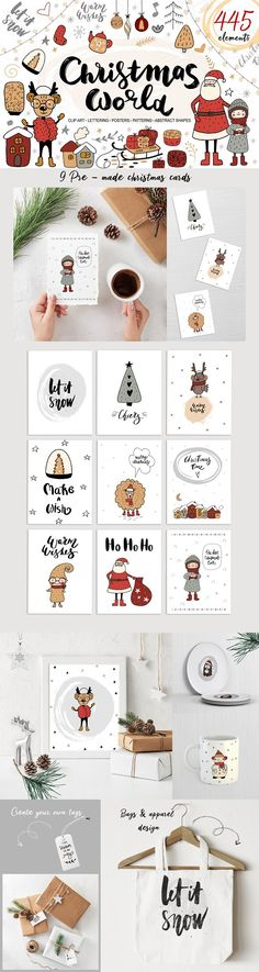 Christmas World - holiday collection by Allure Art on @creativemarket